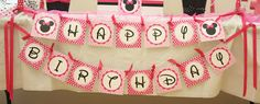 5M Creations: Minnie's Bowtique Inspired Birthday Party, Minnie Banner