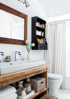 Photos: 20 styles of bathrooms Vintage Bathroom Decor, Diy Bathroom Decor, Bathroom Colors, Bathroom Shower Curtains, Bathroom Ideas, Zen Bathroom, Timeless Bathroom, Boys Bedroom Furniture, Powder Room Decor