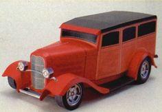 1932 Ford Deuce Woodie Paper Car Free Vehicle Paper Model Download