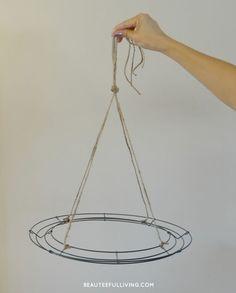 A fabulous idea Hanging+Floral+Chandelier+-+DIY                                                                                                                                                                                 More