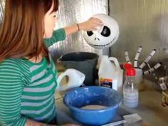how to make your own inexpensive paper clay and paper mache paste great for making diy halloween decorationshalloween