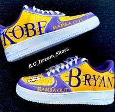 Apr 2020 - Customized kobe bryant X Nike Air force 1 Kobe Bryant Shoes, Kobe Shoes, Nike Fashion, Sneakers Fashion, Casual Sneakers, Fashion Outfits, White Nike Shoes, Nike Custom Shoes, Customised Shoes