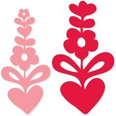 Silhouette Design Store: love grows flower