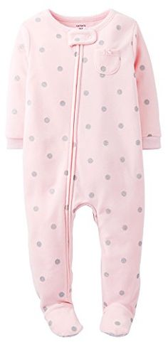 Carter S Baby Girls Dot Fleece Footi - Patilen.com deals