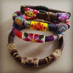 Rope Jewelry, Jewelry Art, Beaded Jewelry, Jewelery, Bead Embroidery Jewelry, Beaded Embroidery, Loom Beading, Beading Patterns, Crochet Beaded Bracelets