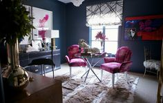 radiant orchid interiors 1 Radiant Orchid: Pantone Color of the Year 2014