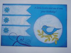 The Stampin up Bird Punch is endless fun.