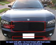 New black Billet Grille, after repair.