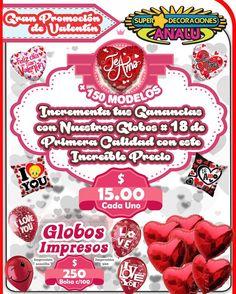 Nuestro precio bajo para este san Valentín Globo #18 $15.00 desinflado precio mayoreo con más de 120 modelos