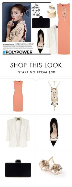 """""""What's Your Power Outfit"""" by louise-frierson ❤ liked on Polyvore featuring Jaeger, Jolie Moi, Miu Miu, Ippolita, Charlotte Russe and PolyPower"""
