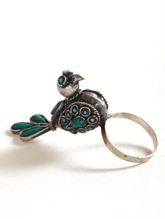 Refinery29 Shops: StoreyThreads 70s Turquoise Bird Ring - Storey Threads - Boutiques