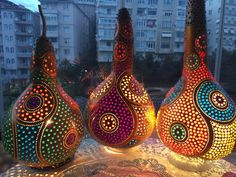 Gourd Lamp, Gourds, Creative Ideas, Folk Art, Lamps, Ceiling Lights, People, Crafts, Home Decor