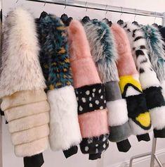 11/11/18 Fur Fashion, Winter Fashion, Fashion Outfits, Womens Fashion, Kim Chungha, Stylish Coat, Russian Fashion, Denim Coat, Winter Coats Women