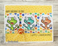 What better way to start the weekend then with a chance to win a YNS Gift certificate? Play along with our challenge to be entered in the random draw. Challenge starts t… Rubber Stamp Company, Birthday Cards, Happy Birthday, Frantic Stamper, Thanks Card, Happy Dance, Cool Sketches, Shaker Cards, Animal Cards
