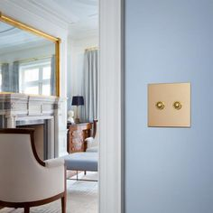 Forbes & Lomax : Retro-styled light switches from London (unlacquered brass two gang push button shown)
