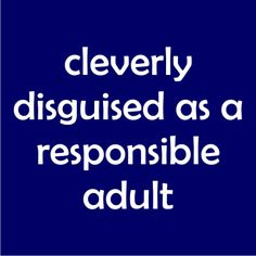 Cleverly disguised as a responsible adult