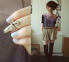 Your Eyes Lie Mountain Dress (Worn As Top), New Look Shorts, Rings And Tings Ring