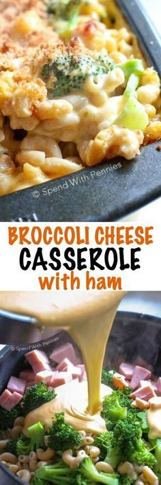 This Broccoli Cheese Casserole is a family favorite! Pasta, broccoli and tender ham is tossed in a quick and easy from scratch cheese sauce. This casserole is then topped with breadcrumbs and baked until bubbly and golden. The kids love this dish just as much as I do.
