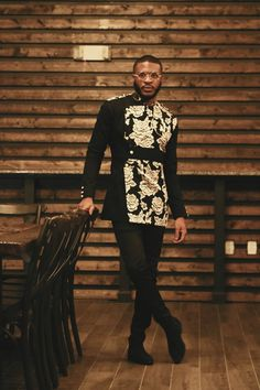 Threaded Culture is the home for Contemporary African clothing, We've re-envision what African fashion and its aesthetic looks like through a unique approach towards design,and innovative construction methods. African Wear Styles For Men, African Shirts For Men, African Dresses Men, African Attire For Men, African Clothing For Men, African Style, African Women, Nigerian Men Fashion, Indian Men Fashion