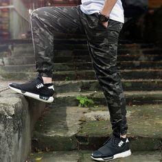 Heybig marca Mens Joggers pantalones Hip Hop camuflaje pitillo hombres ...