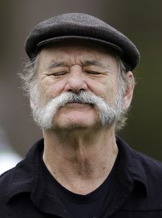 Bill Murray became a cuss of a Scottish farmer for the first day of the tournament.