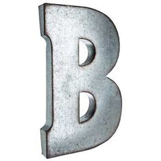 B Large Galvanized Metal Letter