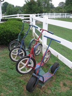 Scooters at the Amish school