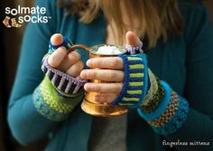 The mittens and fingerless mittens are as fun to wear as they are to look at. Size is one size fits most adults.