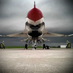 The U.S. Air Force Thunderbirds wait for the weather to clear up.