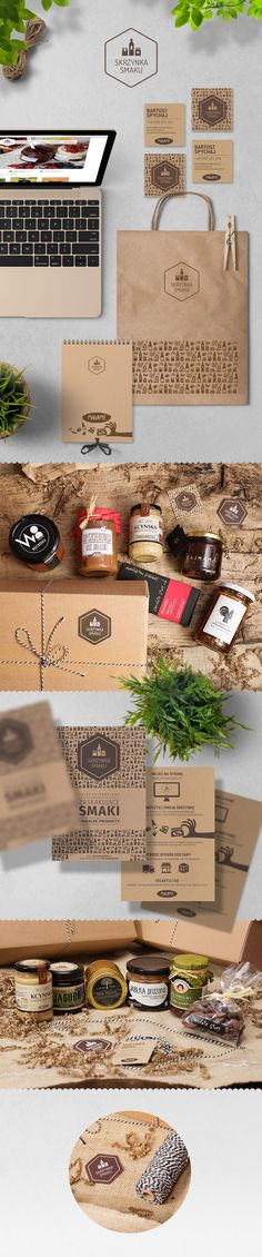 SKRZYNKA SMAKU branding packaging for a web shop selling products from local, reliable producers PD