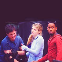 Logan, Alexandra, + Grover. LOL I don't know his name