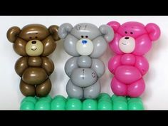 Плюшевый мишка из шарика / One balloon Teddy bear (Subtitles) - YouTube