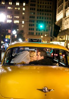 vintage ny taxi   - love the lighting IN the cab!