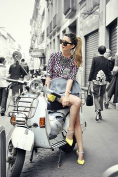 Girl and scooter