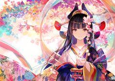 e-shuushuu kawaii and moe anime image board Kawaii Anime Girl, Manga Kawaii, Chica Anime Manga, Anime Art Girl, Manga Girl, Anime Girls, Anime Kimono, Kimono Animé, Anime Fashion