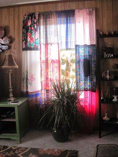 DIY Gypsy Curtains | Found on gypsyjewlsweatherley.blogspot.com