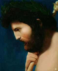 Head of Jupiter in Profile. Jean Auguste Dominique  Ingres. French 1780-1867. oil/canvas. http://hadrian6.tumblr.com