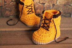 Crochet Boots Pattern for Baby Boys Woodsmen by Inventorium, $6.40