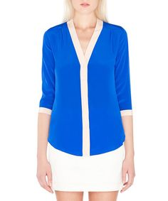 Take a look at this Cobalt Silk Melissa Top by Amour Vert on #zulily today! $55 !!