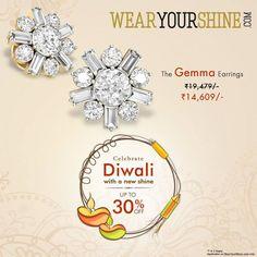"""Diwali Coming Soon! Live with abundance of shine with """"The Gemma Earrings"""". Shop now : http://goo.gl/Ai5FJ7 #WearYourShine #Love #PCJeweller #Happiness #Diwali #Festival #India #Jewellery #Discounts #Offers #Indian #Earrings #Like #Follow #FollowforFollow #Antique #Charms #Women #Fashion #Trends #Trending #Beauty"""