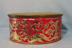 Guildcraft Ornate Tin Embossed in Red Gold with Crest