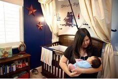 Nautical nursery crib