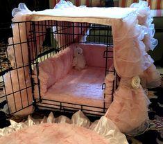 Dog Crate Cover, Dog Kennel Cover, Bunny Cages, Dog Cages, Mädchen In Leggings, Luxury Dog Kennels, Dog Bedroom, Bunny Room, Dog Crate Furniture