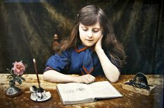 """""""The Journal"""" - Edwardian Autochrome"""
