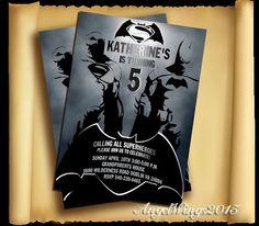Superman vs Batman invitation superman by AngelWings2015 on Etsy