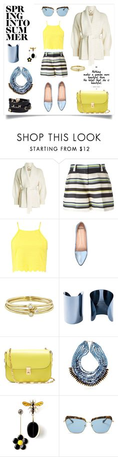 """Spring into Summer"" by amyopt ❤ liked on Polyvore featuring Burberry, Jil Sander Navy, Boohoo, Mollini, Versace, Jennifer Meyer Jewelry, Maison Margiela, Valentino, NIGHTMARKET and Sonix"
