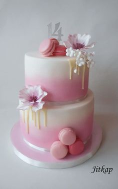 Best birthday cake decorating women beautiful Ideas Best Picture For Birthday Cake For Your Taste You are looking for something, and it is going to tell you exactly what you are looking for, and 18th Birthday Cake, Beautiful Birthday Cakes, Birthday Cakes For Women, Beautiful Cakes, Pink Birthday, Birthday Woman, Buttercream Cake Designs, Buttercream Birthday Cake, Birthday Cake Decorating