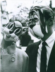 Audrey Hepburn and George Peppard in Breakfast at Tiffanies