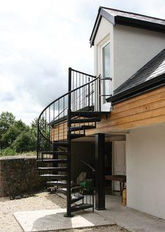 Escalier en colimaçon en acier CAMELIA : vente Escaliers hélicoïdaux, colimaçon et Escaliers en colimacon métallique | Echelle Européenne
