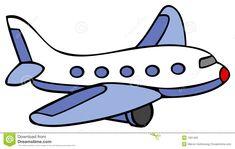 Cartoon Airplane | Cartoon line art for an airplane